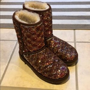 Ugg ankle sequin boot